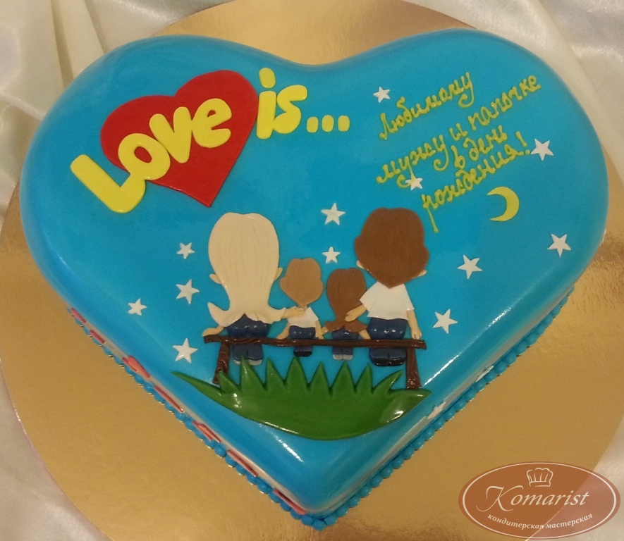 is фото торт из мастики love