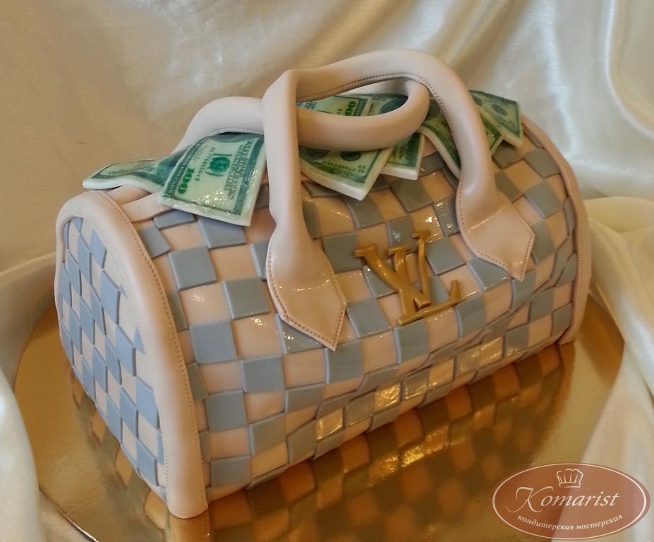 Торты сумки и торты с туфельками на тему сумка